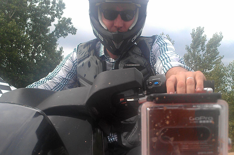 GoPro view of the action on a QuadSki video shoot for Discovery Channel Canada.