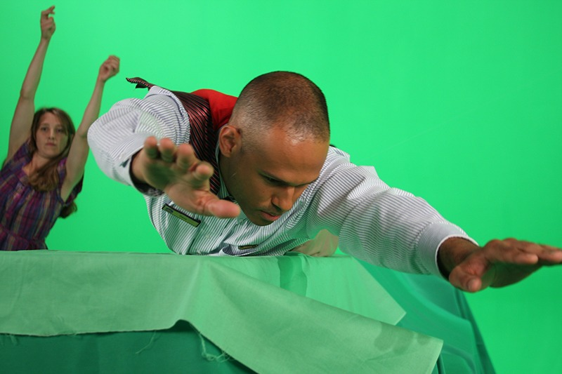 """Guy Armstrong and www.sunrisebasictraining.com for """"Best Western World"""" recording on a full green screen set at Future Media Corporation's Studio."""