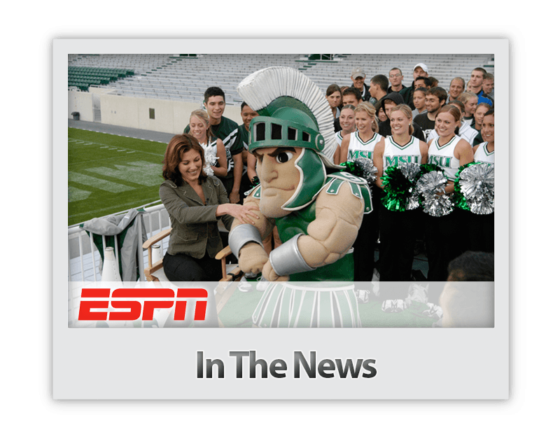 Future Media Corporation crews a live shot episode of ESPN's Cold Pizza in Spartan Stadium