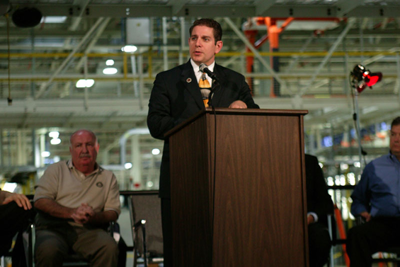 Lansing Mayor Virg Bernero at Lansing Grand River Plant's 5th Year Anniversary event on October 20, 2006.