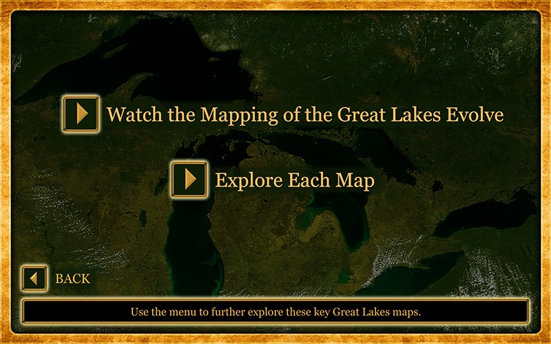 "Future Media Corporation used client-supplied photos to design an interactive touch screen program ""Gardiner's Photos"" & ""Mapping the Great Lakes"" for the Mackinac State Historic Parks."