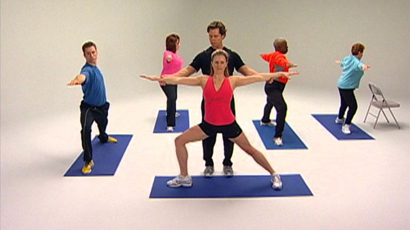 "Chris Johnson instructing proper form for the OnTarget Living ""Exercise"" video, recorded in Future Media Corporation's Studio."
