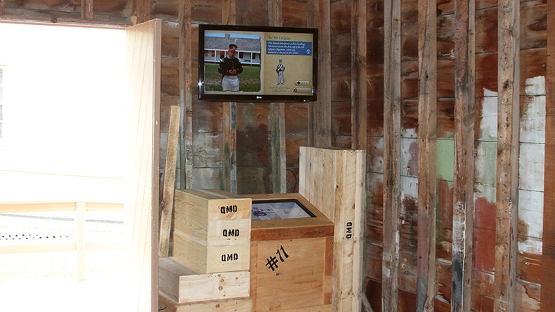 Interactive Touch Screen - Quartermaster Storehouse - Mackinac State Historic Parks