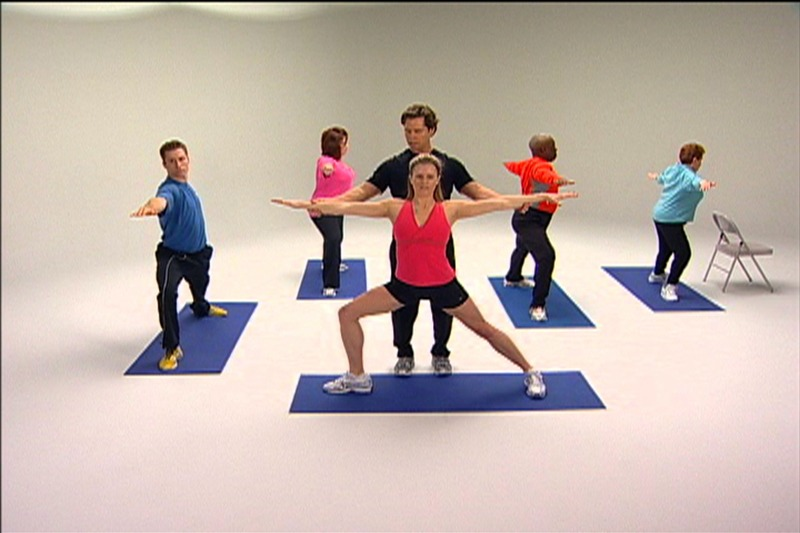 """Chris Johnson instructing proper form for the OnTarget Living """"Exercise"""" video, recorded in Future Media Corporation's Studio."""