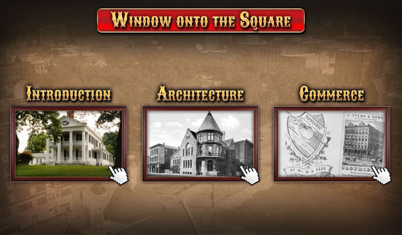 The Historical Society of Quincy and Adams County Illinois - touch screen menu
