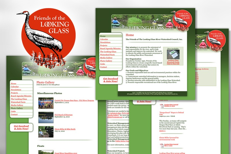 Website Design - Friends of the Looking Glass River, designed by Future Media Corporation