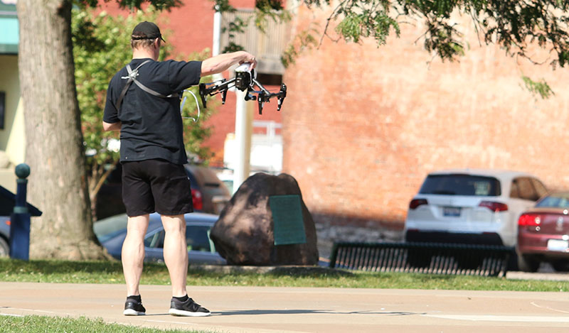 Quincy Illinois History Museum - (drone cam operator) recording footage for interactive display